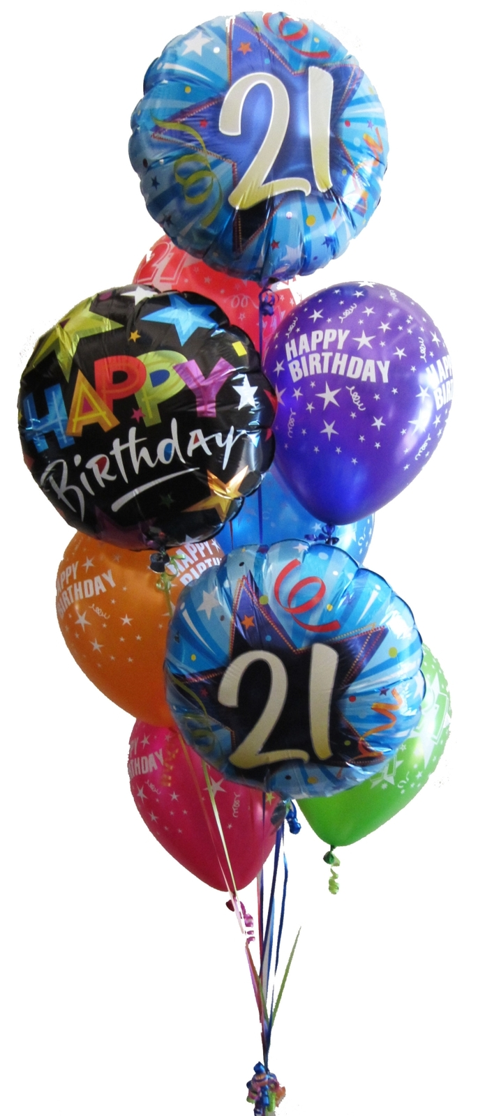 21st Birthday Balloon Bouquets