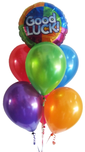 Good Luck Helium Balloons Bouquets Delivery Same Day In Perth