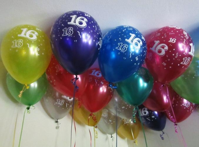 50 X 16 Helium Balloons