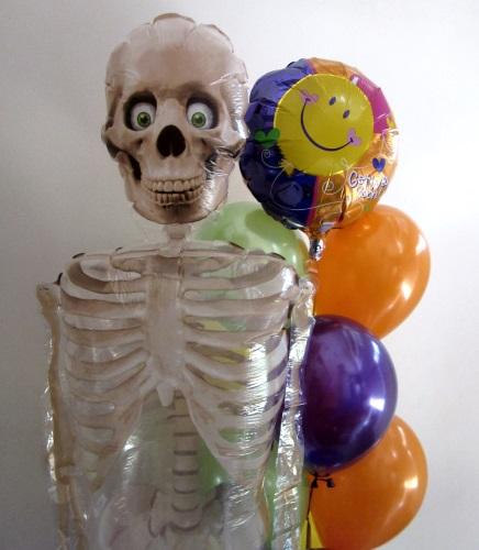 Skeleton Airwalker Helium Balloons Perth Mr Bones Skeleton Balloon